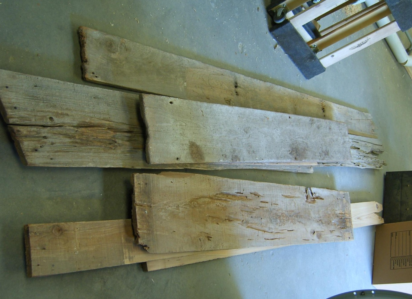 Cypress boards reclaimed from an old barn boards that had belonged to the client's father.